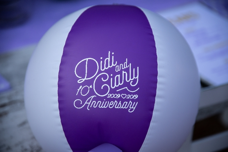 diana and ciarly inflatable balloon invitation
