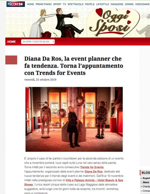 Diana Da Ros su trends for events tgcom24 diana