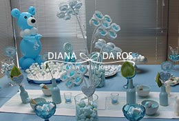 sweet table azzurro bianco babyshower (Diana Da Ros - Event Planner)
