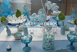 sweet table bianco azzurro (Diana Da Ros - Event Planner)
