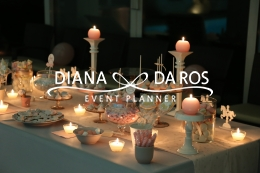 sweet table rosa grigio (Diana Da Ros - Event Planner)