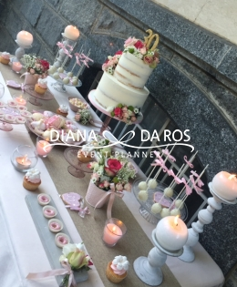 Pink and white sweettable (Diana Da Ros - Event Planner)