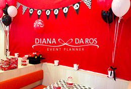 fondale rosso compleanno cars (Diana Da Ros - Event Planner)