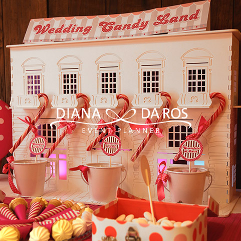 Wedding candy land
