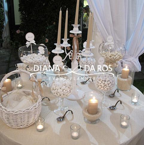 Confettata matrimonio classico beige pois lago maggiore - Confettata matrimonio a casa ...