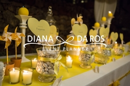 Gabriella Marco yellow sweettable (Diana Da Ros - Event Planner)