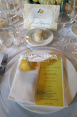 mise en place lemon wedding (Diana Da Ros - Event Planner)