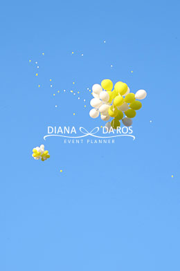palloncini lemon wedding giallo bianco (Diana Da Ros - Event Planner)