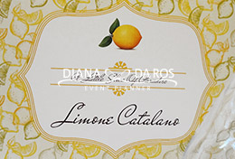 segnatavolo lemon wedding (Diana Da Ros - Event Planner)