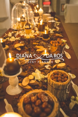 sweet table cioccolato legno (Diana Da Ros - Event Planner)