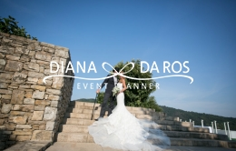 Travel themed wedding Bride and Groom (Diana Da Ros - Event Planner)