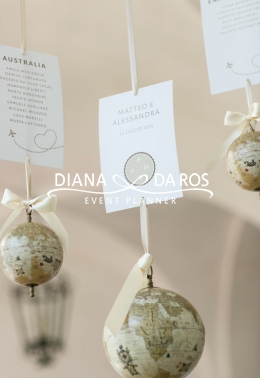 Travel themed wedding Tableau de mariage (Diana Da Ros - Event Planner)