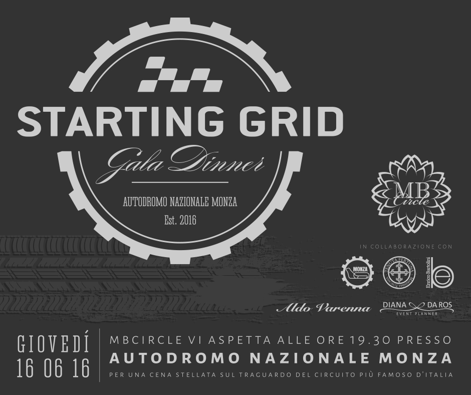 STARTING GRID GALA DINNER - SAVE THE DATE