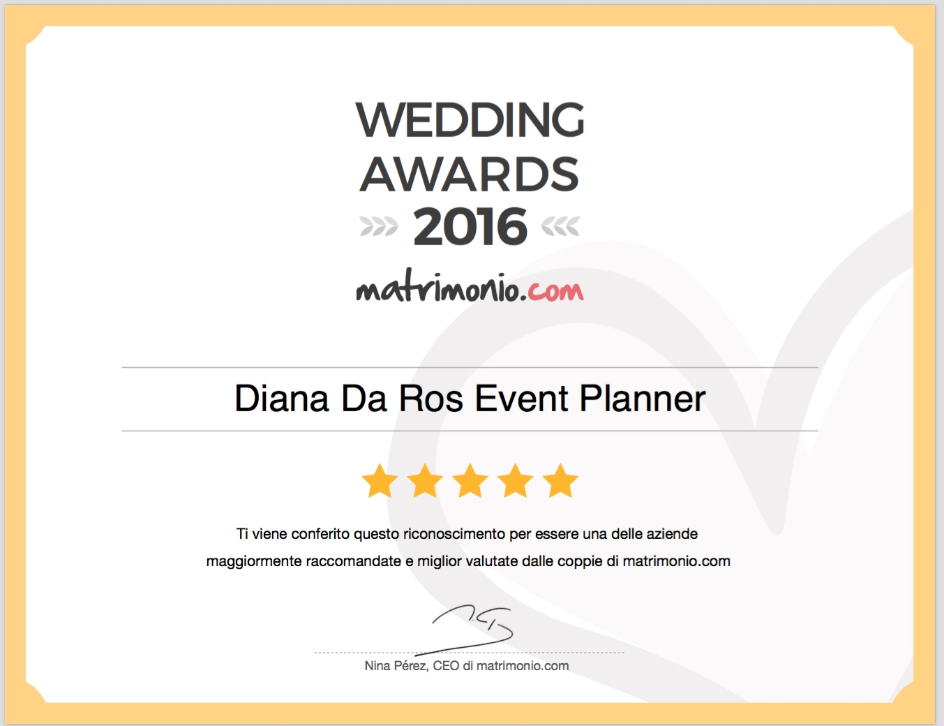 WEDDING AWARDS 2016 CATEGORIA WEDDING PLANNER